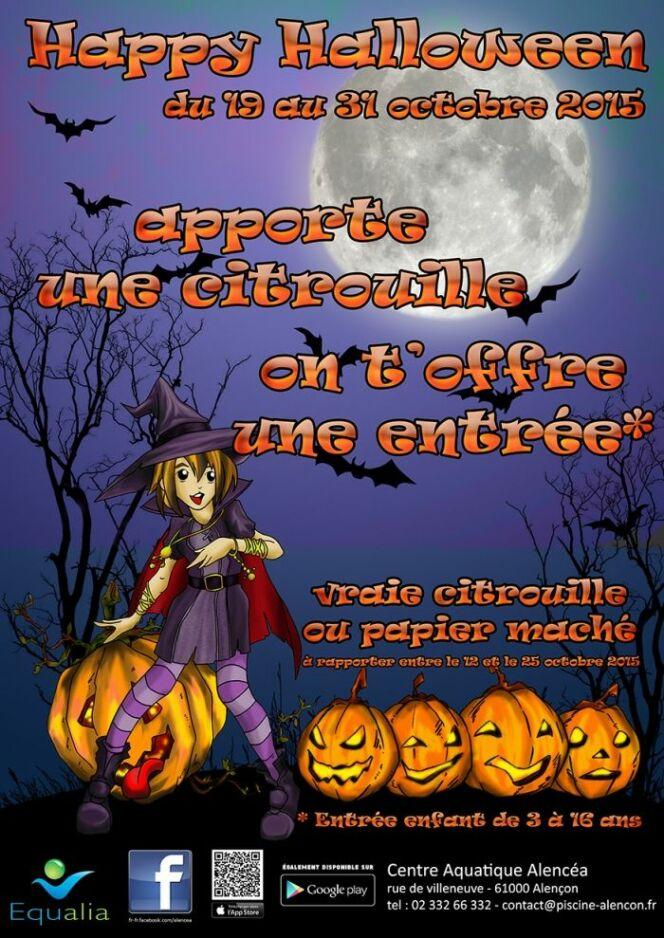 """Animations spéciales Halloween à la piscine d'Alençon !<span class=""""normal italic petit"""">© piscine-alencon.fr</span>"""