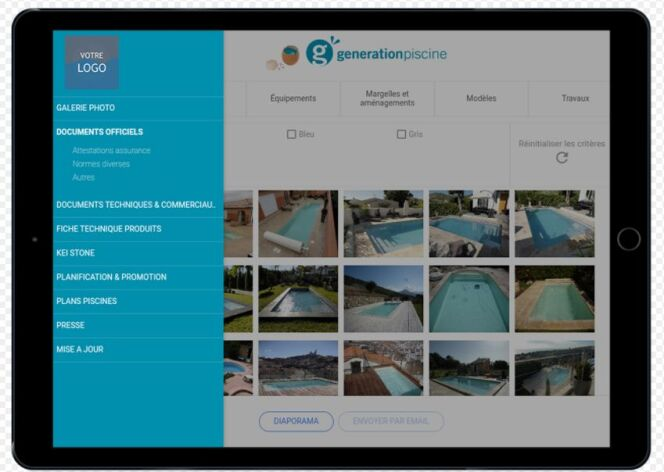 Application mobile Génération Piscine