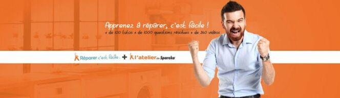 """Apprenez à réparer, c'est facile, avec Spareka !<span class=""""normal italic petit"""">© Spareka</span>"""
