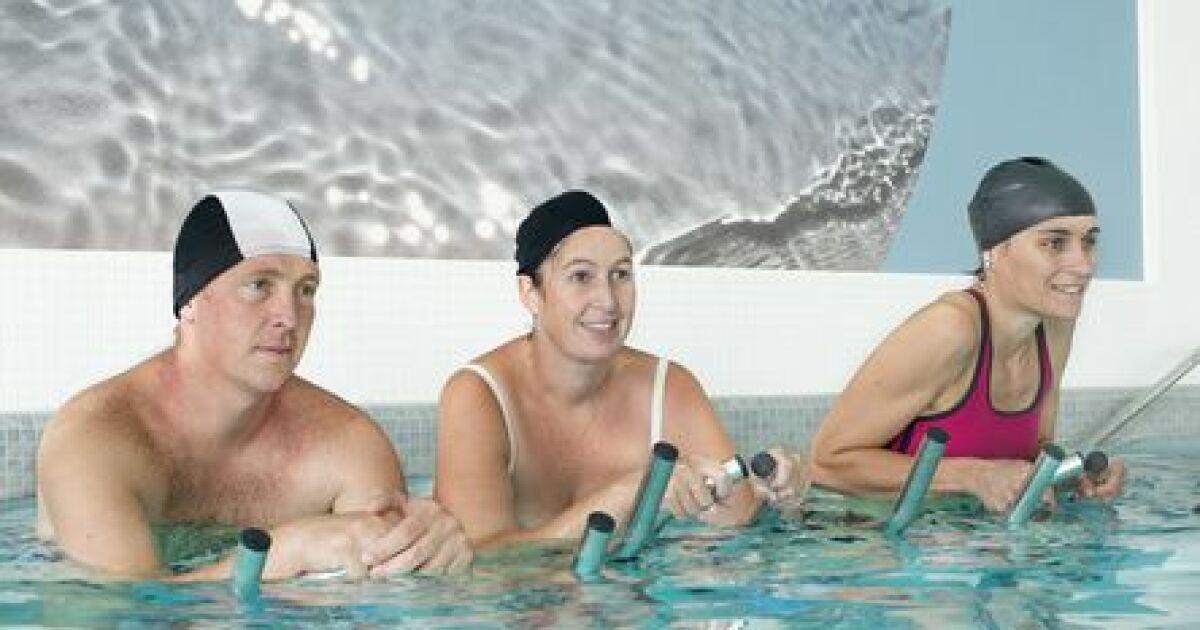 Aquabike les bienfaits du v lo dans l eau - Velo d appartement les bienfaits ...