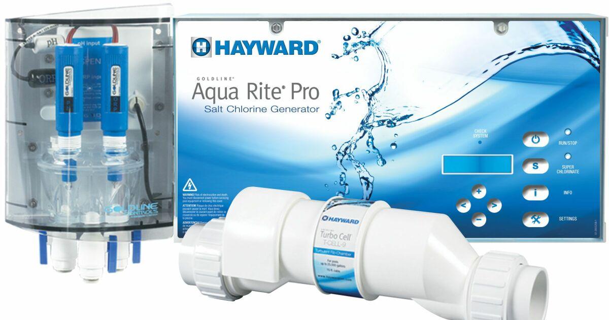 Aquarite pro d 39 hayward for Traitement eau piscine