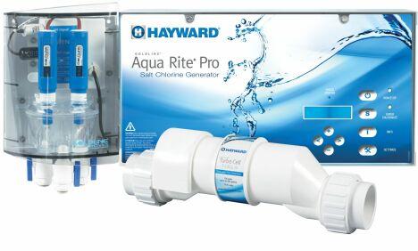 """AquaRite Pro est l'électrolyseur au sel dernière génération.<span class=""""normal italic petit"""">© Hayward Pool Europe</span>"""