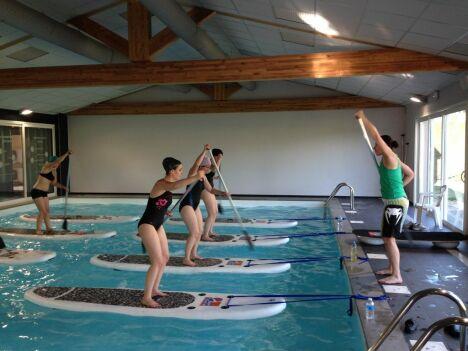 """Cours d'aquastandup à Aquasun<span class=""""normal italic petit"""">DR</span>"""