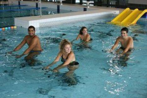 """Les cours d'aquabike à la nouvelle piscine à Marconne<span class=""""normal italic petit"""">DR</span>"""