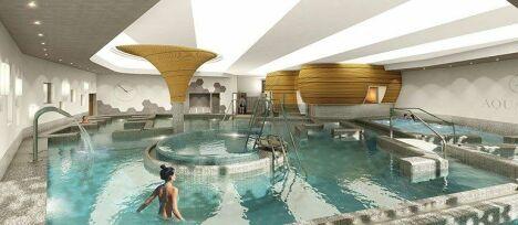 """L'espace aquatique d'Aquatonic vous permet de profiter de nombreux plaisirs liés à l'eau : jacuzzi, sauna, hammam.<span class=""""normal italic petit"""">© Aquatonic</span>"""