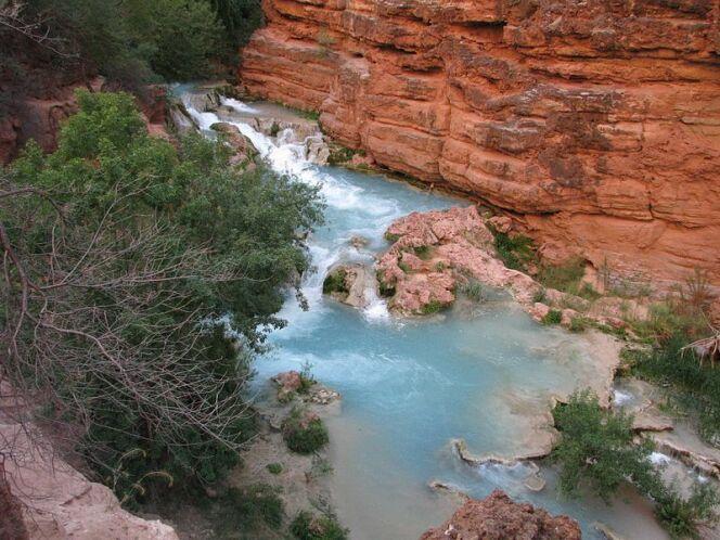 Au coeur du Grand Canyon, les Chutes d'Havasu