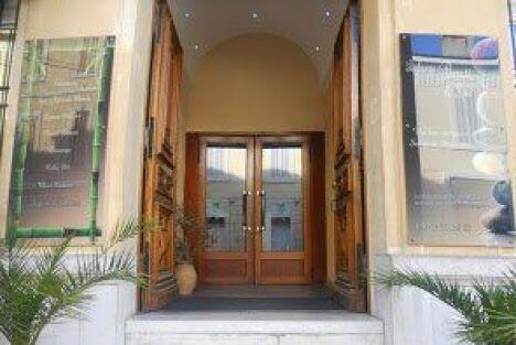 """L'entrée de l'auberge de beauté et spa.<span class=""""normal italic petit"""">© Auberge de beauté</span>"""