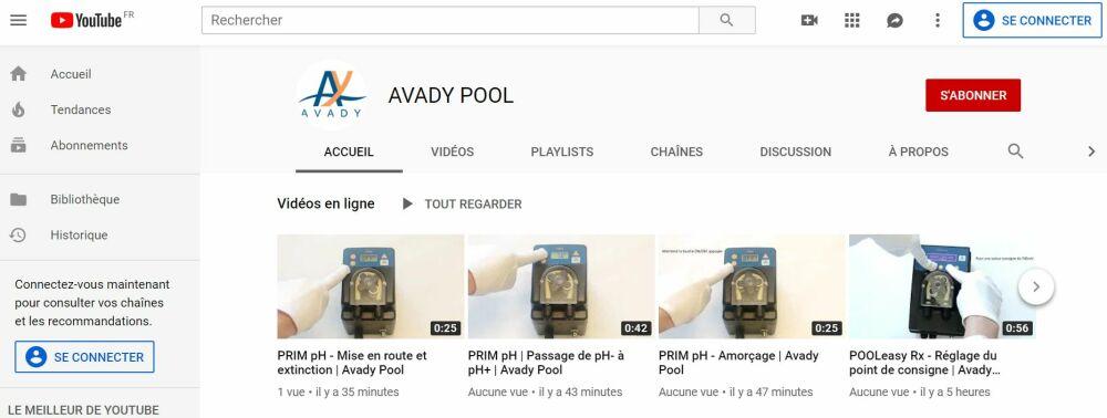 Avady Pool lance sa chaîne Youtube© Avady Pool