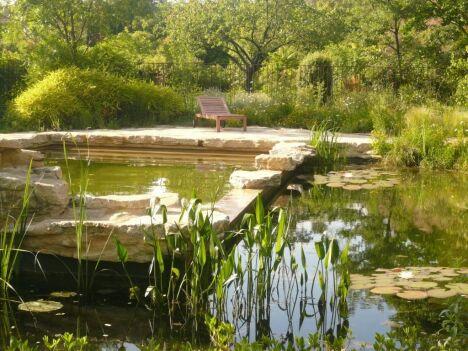 Baignade naturelle avec étang périphérique