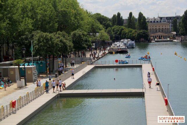 Baignade ouverte au Bassin de la Villette