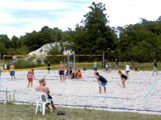 Terrain de beach-volley - base de loisirs Moby Dick à Rülzheim
