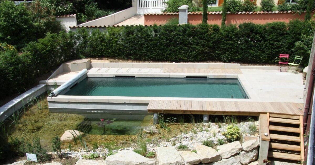 Reportage photos piscines rectangulaires diaporama - Piscine style bassin pierre argenteuil ...