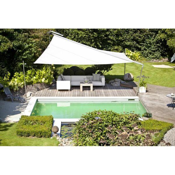 Bassin de baignade naturelle avec terrasse en bois biotop for Bassin piscine naturelle