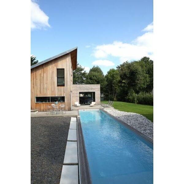 bassin de nage 3x15m. Black Bedroom Furniture Sets. Home Design Ideas