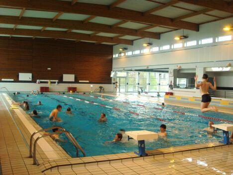 """Bassin de natation à la piscine de Guingamp<span class=""""normal italic"""">DR</span>"""