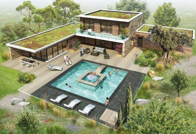 Plus besoin de choisir entre une piscine et un spa avec for Piscine spa integre