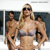Bikini corbeille couleur taupe effet drapé Maryan Mehlhorn été 2013