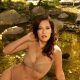 Bikini bandeau couleur crème imprimé serpent Joy de Villaret été 2013