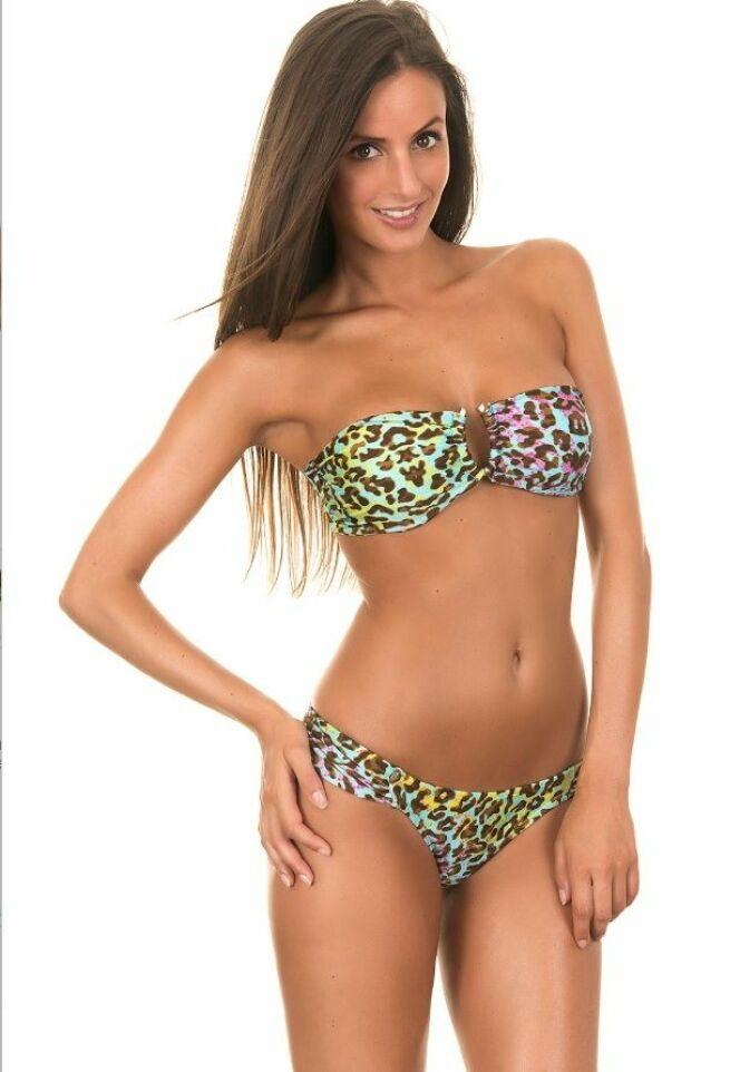 Bikini bandeau léopard coloré de Rio de Sol