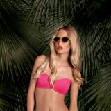 Bikini bandeau rose et shorty assorti Acapulco Loco Huit 2013