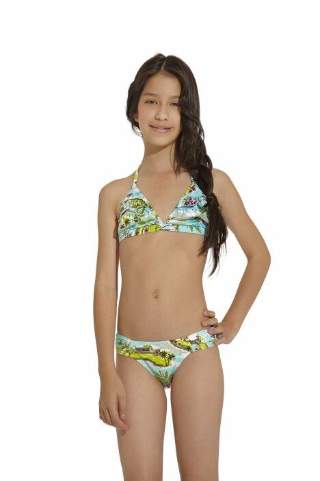 "Bikini enfant imprimé paysage tropical OndadeMar 2013<span class=""normal italic petit"">© OndadeMar</span>"