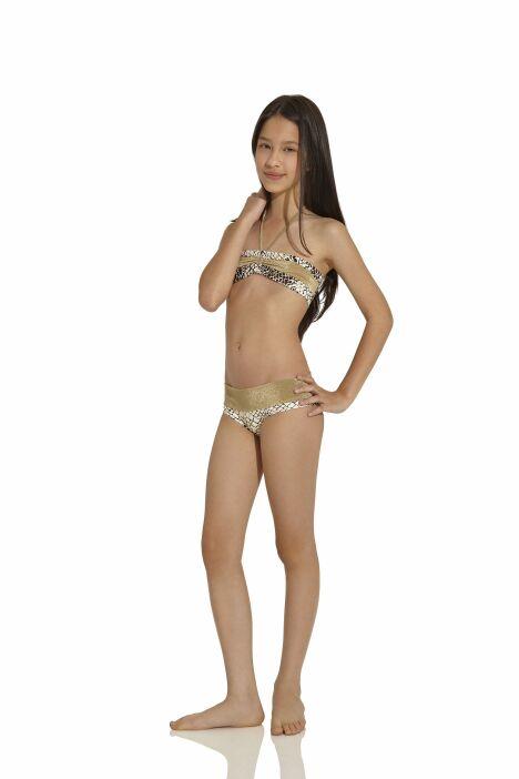 "Bikini fille bandeau imprimé serpent OndadeMar été 2013<span class=""normal italic petit"">© OndadeMar</span>"