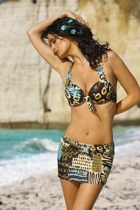 "Bikini imprimé Kenya avec mini jupe par LingaDore<span class=""normal italic petit"">© LingaDore</span>"