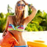 Bikini maillot bandeau Summerstripe Seafolly