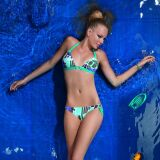 Bikini triangle Sophie Turquoise d'Hechter Studio