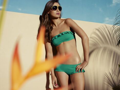 "Bikini ""Girly Ipanema"" Sea green  <span class=""normal italic petit"">© Huit</span>"