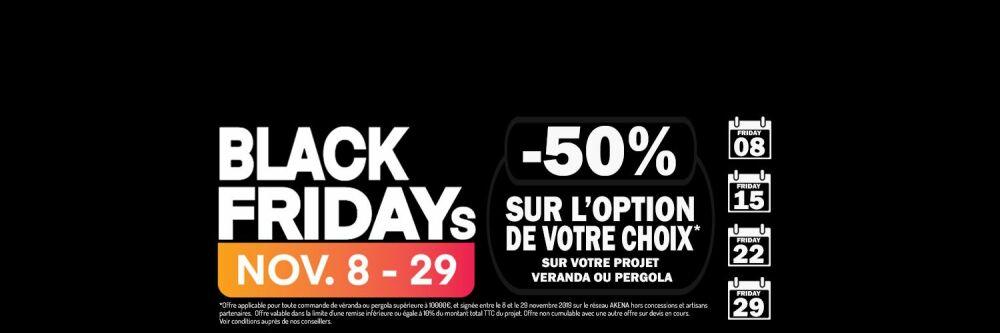 Black Fridays Akena Vérandas : -50% sur l'option de votre choix© Akena Vérandas