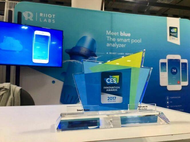 """Blue by Riiot a remporté un Innovation Award dans la catégorie """"Smart Home"""" lors du CES Las Vegas 2017."""
