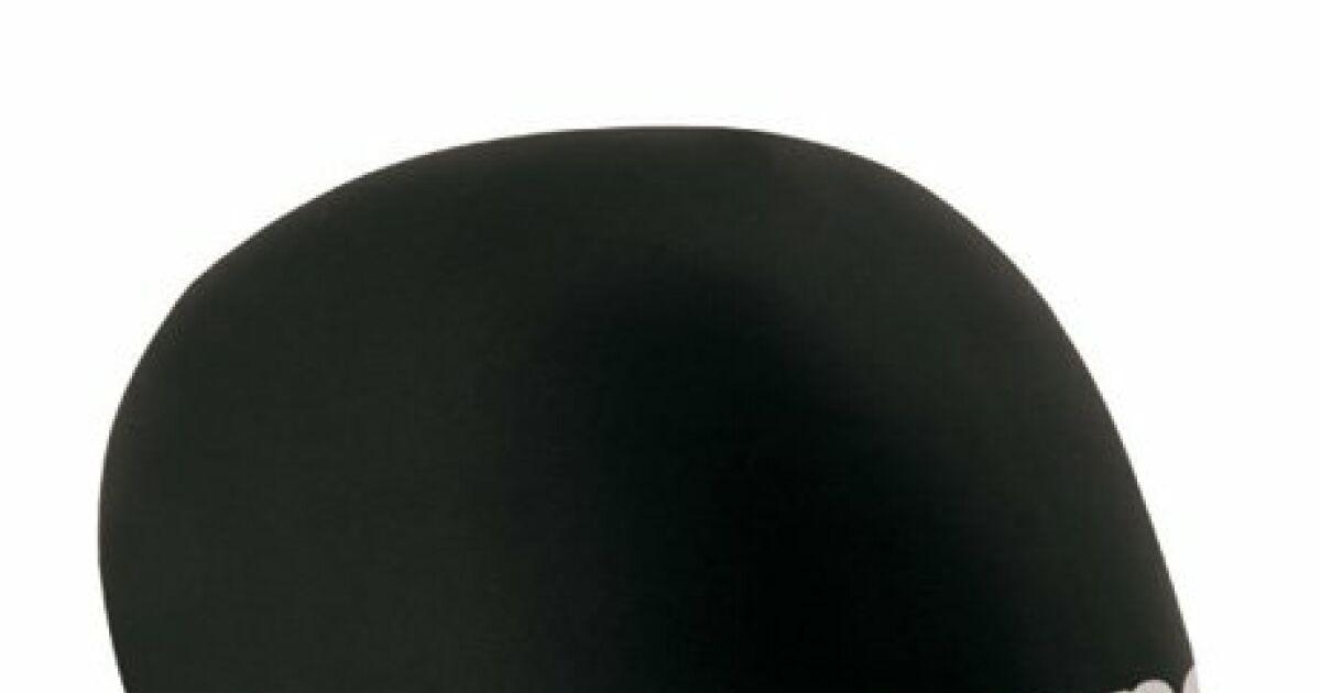 bonnet de bain 3d race noir blanc arena. Black Bedroom Furniture Sets. Home Design Ideas