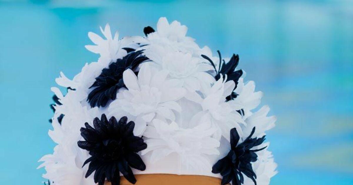 Bonnet De Bain Fleuri Par Fashy