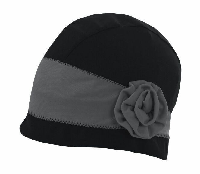 0481db099cd Bonnet de bain noir et gris femme Paris Arena été ...