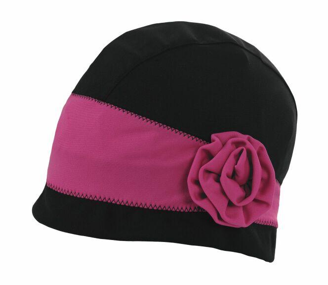 Bonnet de bain noir et  rose femme Paris Arena été 2013