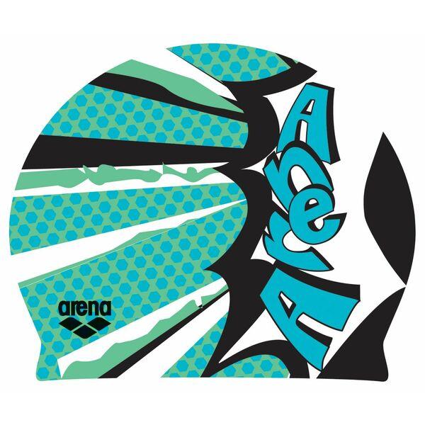 Bonnet de bain Poolish Comics vert irlandais Arena
