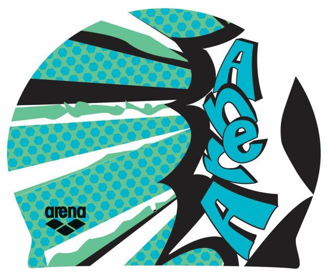 Bonnet de bain Poolish Comics vert irlandais Arena d3684d911dc