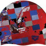 Bonnet de bain Poolish imprimé rouge Arena