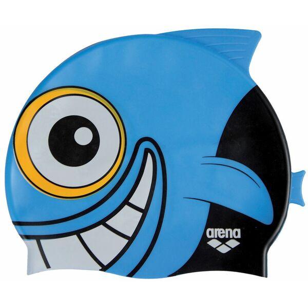 bonnet de bain bleu enfant motif poisson et aileron requin arena 2012 2013. Black Bedroom Furniture Sets. Home Design Ideas