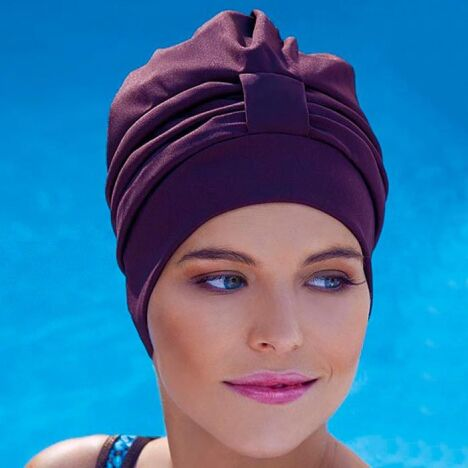 "Bonnet de bain turban   <span class=""normal italic petit"">© Fashy</span>"