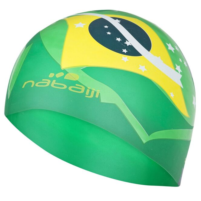 """Bonnet en silicone Brésil<span class=""""normal italic petit"""">© Nabaiji</span>"""