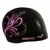 Bonnet de bain femme Sirene noir/rose