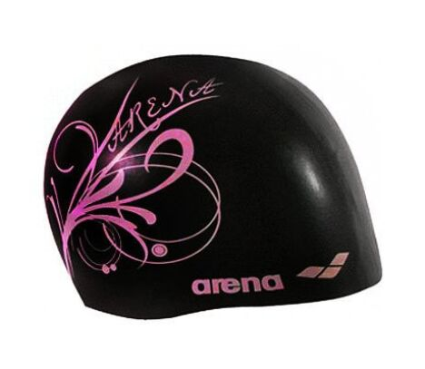 "Bonnet de bain femme Sirene noir/rose<span class=""normal italic petit"">© Arena</span>"
