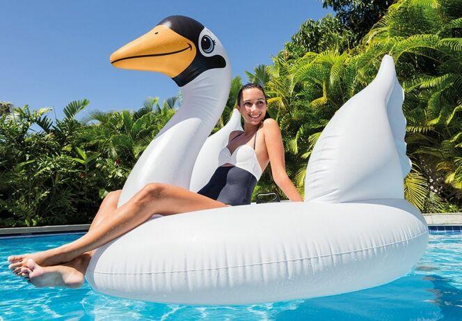 Bouée cygne, pour voguer sur votre piscine