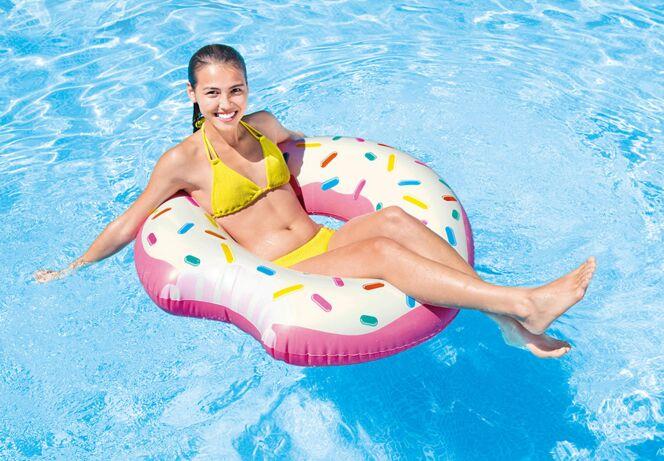 Bouée donut rose
