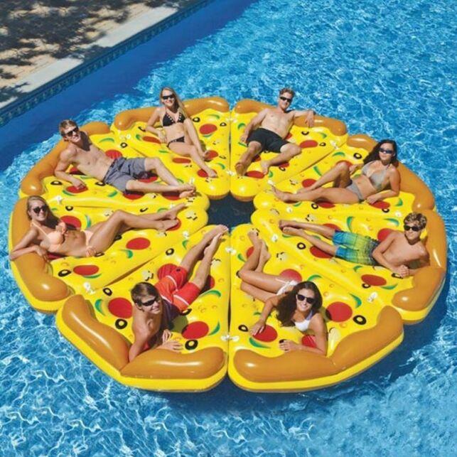 Bouée pizza, à partager