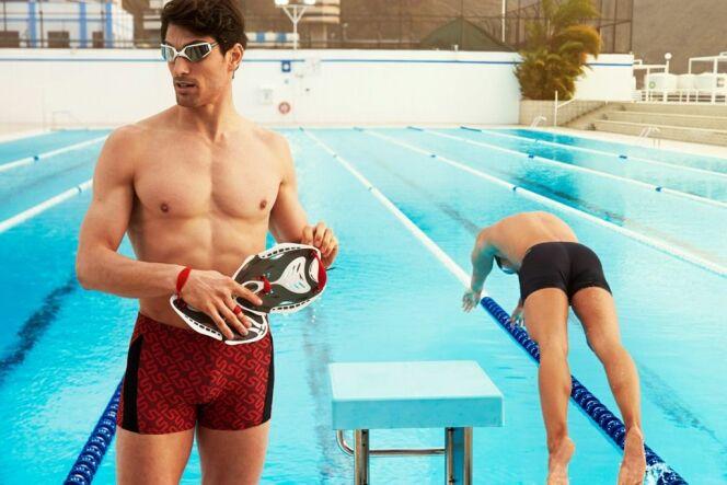 Boxer de bain homme imprimé rouge sport Speedo Swim Fitness 2014