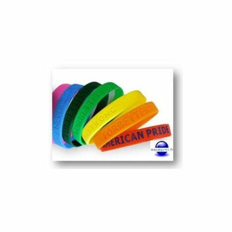 """Bracelets piscine en silicone personnalisables par Aquagyms<span class=""""normal italic petit"""">© Aquagyms</span>"""