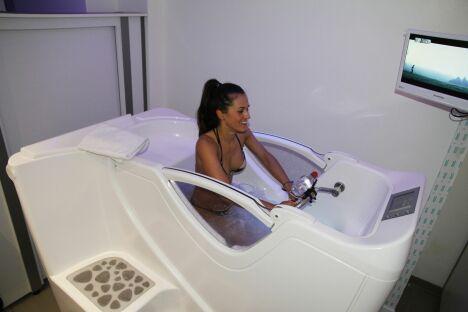 Cabine d'aquabiking du centre Body Forme à Paris (6ème)